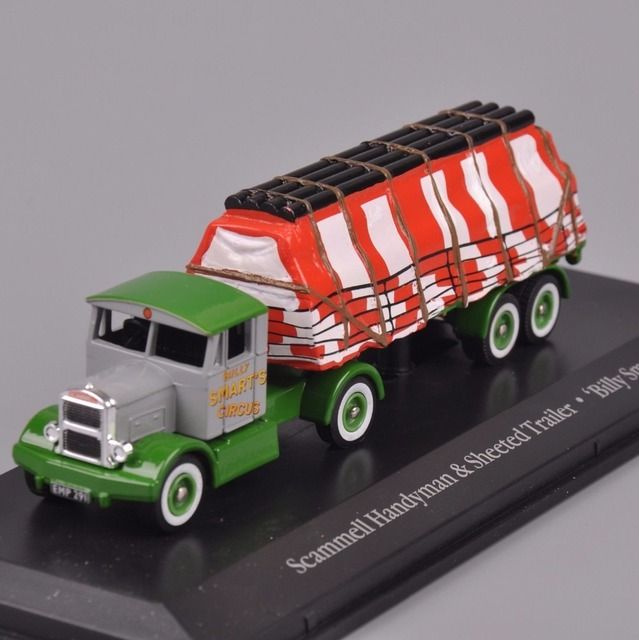 Atlas 1/87 Diecast Alloy Car Model Toys Scammell Handyman & Sheeted Trailer Billy Smart Truck Car Model Hobby   Collections