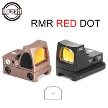 LUGER tactique RMR point rouge viseur portée de fusil Collimador Reflex vue chasse portée Fit 20mm tisserand Rail pour Airsoft fusil