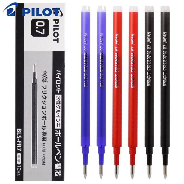 12Pcs / Lot  Pilot BLS FR7 FriXion Pen Refill for LFBK 23EF / LFB 20EF Ink Gel 0.7mm Refill Ink for Writing Office Supplies