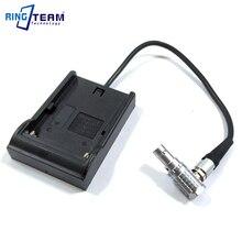 NP F970 F750 F550 FM70 V607 VBD1 Pin Sạc Tấm Đế Giá Đỡ để Lemo 2 Chân OB Nam cho Teradek bu lông Pro 300 500 600 1000