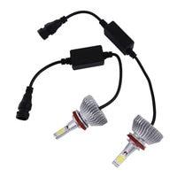5 шт. авто лампа загорается Наборы 2 x светодиодный чипов 60 Вт 6000LM H4/9004/9007/ h13/H1/H7/H3/9005/9006/H11 фар лампы наборы