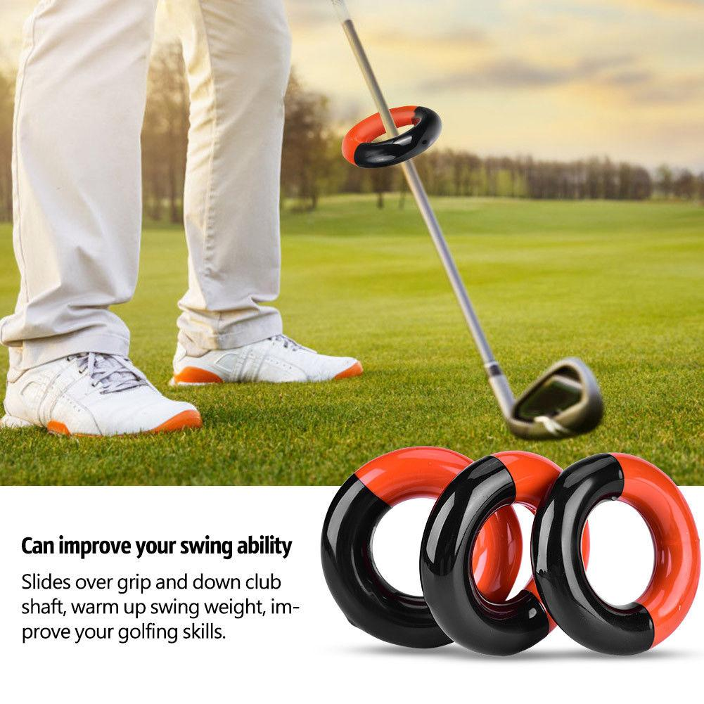 Golf Club Swing Weighted Ring Warm Up Aids Practice Training Tool Accessory
