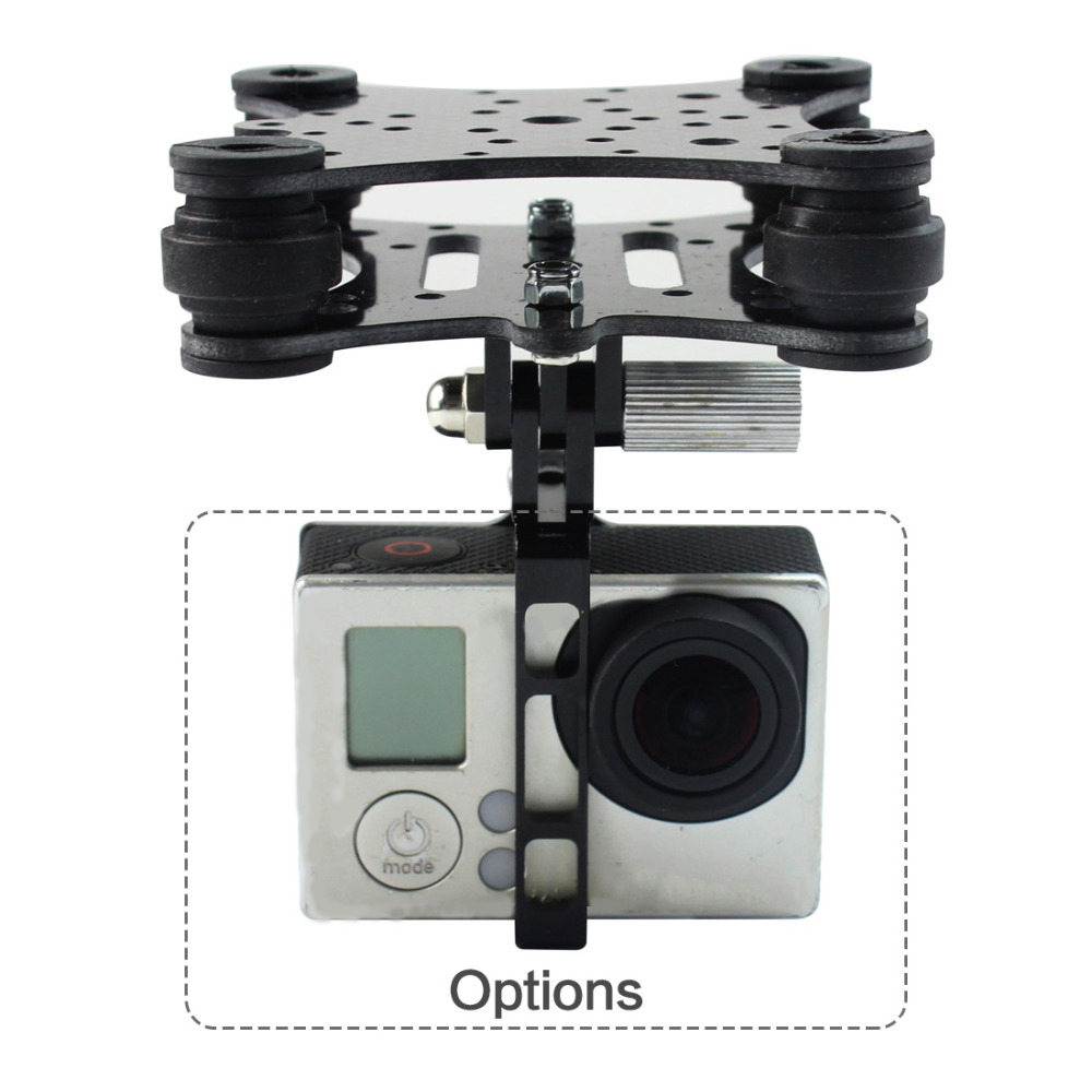 F10043 Carbon Fiber Camera Gimbal Mount FPV Damping PTZ for Phantom Quadcopter Multicopter Gopro Hero 3
