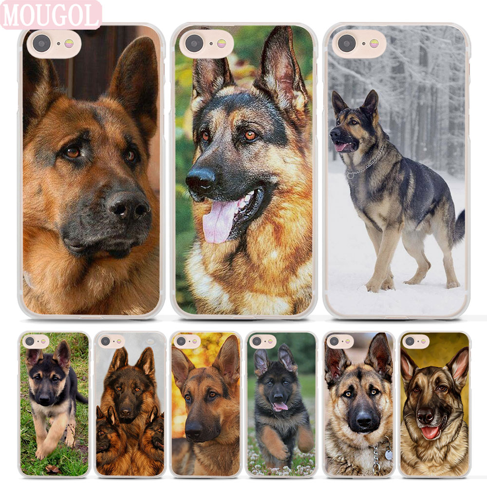 Mougol Лидер продаж Соболь немецкая овчарка щенок Стиль тонкий прозрачный телефон чехла для Apple iPhone 7 плюс 8 8 плюс 6 6splus x SE 5 5