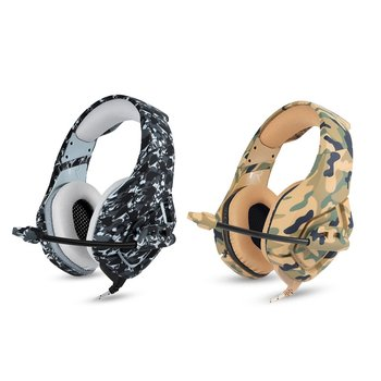 Guitar Accessories  Camouflage  Bass Gaming Headphone Game Earphone with Mic for Guitar One Tablet K1b