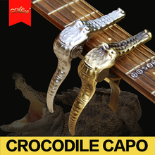 Alice  Crocodile Capo for Electric Bass Guitar , Acoustic Folk Guitar Capo Capotasto Alloy + High Quality Silica Gel Pad