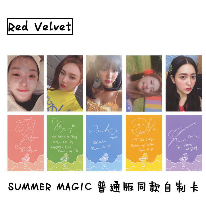 New 10Pcs/Set KPOP Red Velvet Photo Card Album Paper Cards Self Made LOMO  Card Photocard
