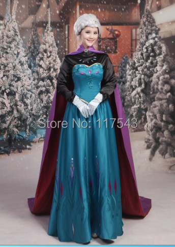 Frozen Elsa Dress Frozen Coronation Queen Elsa Dress Cosplay Costume Halloween Costumes Free Shipping-in Anime Costumes from Novelty u0026 Special Use on ...  sc 1 st  AliExpress.com & Frozen Elsa Dress Frozen Coronation Queen Elsa Dress Cosplay Costume ...