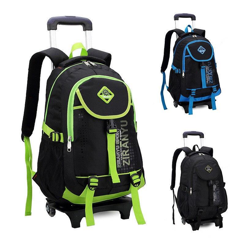 Школьная сумка на колесиках для мальчиков и девочек, детский рюкзак на колесиках