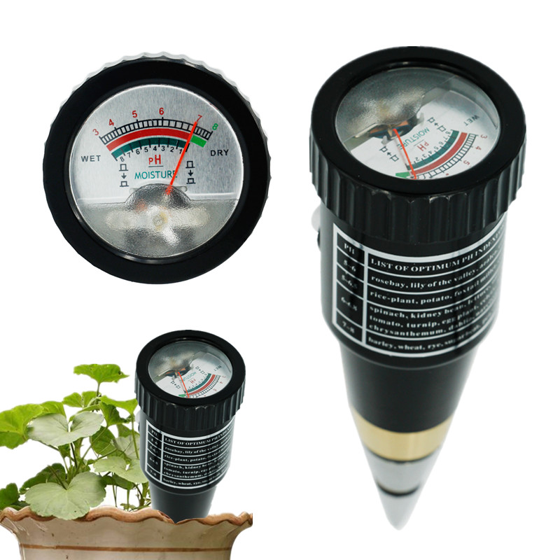 New Arrival Handheld Moisture Humidity Meter Ph Tester For Garden Soil Metal Probe VT-05 10-80% Hygrometer 18% Off