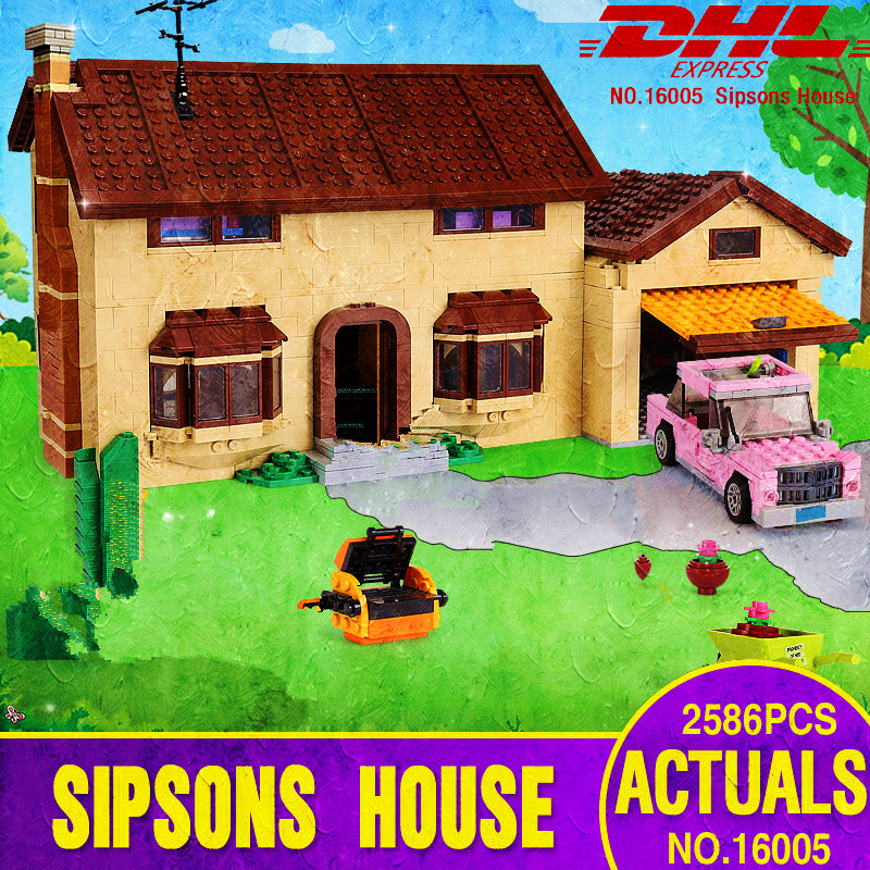 16005 Simpson's family House Model Building Blocks Bricks Compatible with 71006 for children brithday gift-in Blocks from Toys & Hobbies    1