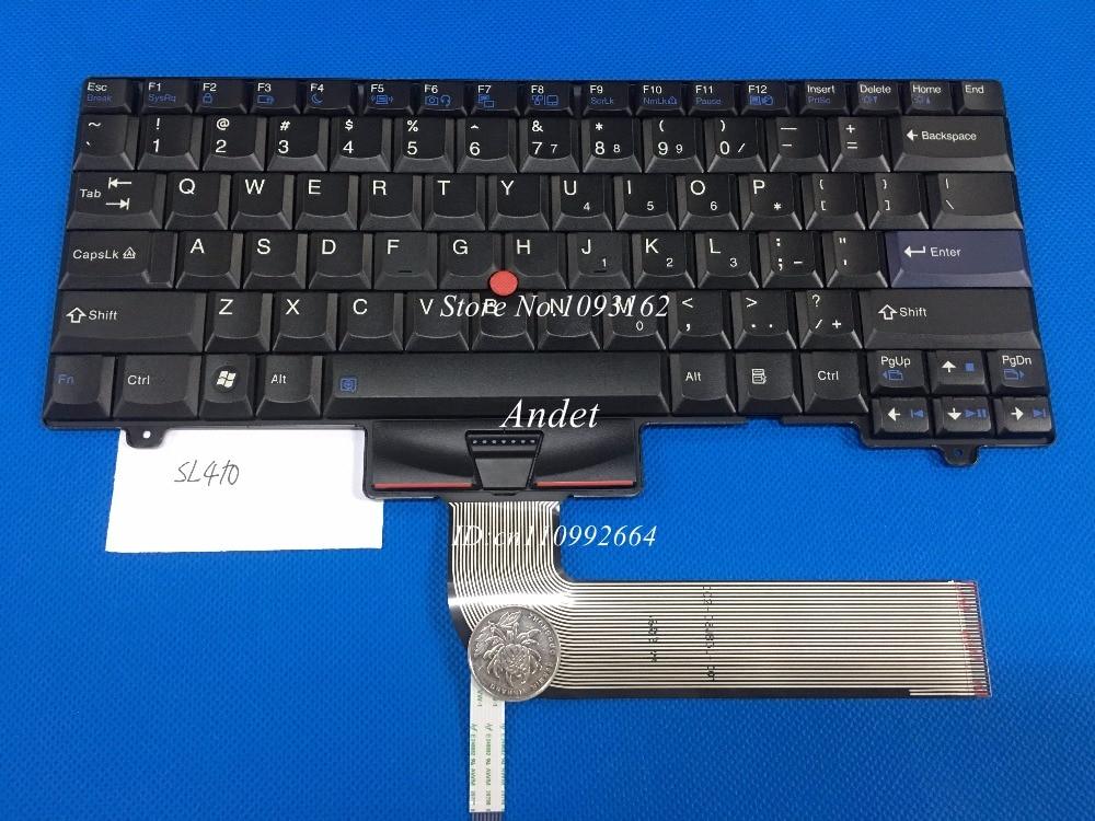 New Original US Keyboard for Lenovo ThinkPad SL410 L410 L412 L420 L421 English 45N2353 45N2283 45N2423 45N2318 new original laptop keyboard for lenovo thinkpad t460p t460s us keyboard english with backlit backlight 00ur395 00ur355