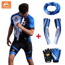 VEOBIKE Pro Team Bicycle Wear Cycling Clothing MTB Breathable Bike Conjunto Ropa Ciclismo Short Sleeve Running Jersey Set Camisa
