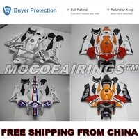 Motorcycle Complete ABS Fairings Kit For Honda CBR600RR F5 2005 2006 Fairing Kits REPSOL ORANGE & SILVER 05 06 CBR600 RR