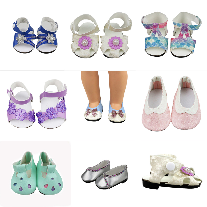 Colorful Sandals Doll Shoes For 18