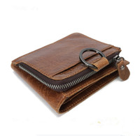 Real Leather Wallet Men Organizer Wallets Brand Vintage Genuine Leather Cowhide Short Men S Wallet Purse