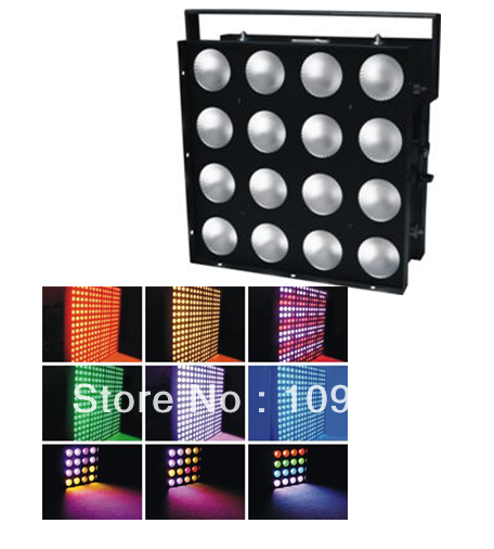 New 16 x 30W COB RGB 3in1 Leds Blinder Wash Stage Light Led Matrix Effect Lighting 16 30 x 45см