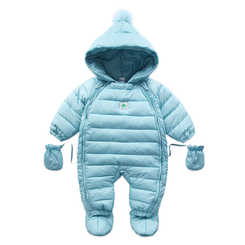 Baby Coveralls Rompers Winter Thick Boys Costume Girls Warm Infant Snowsuit Baby Wear Newborn Down Apparel Outdoor clothing