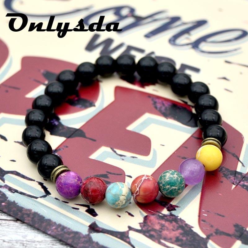 ONLYSDA National wind handmade jewelry wholesale Natural sand beads elastic bracelet colorful energy bracelet gift