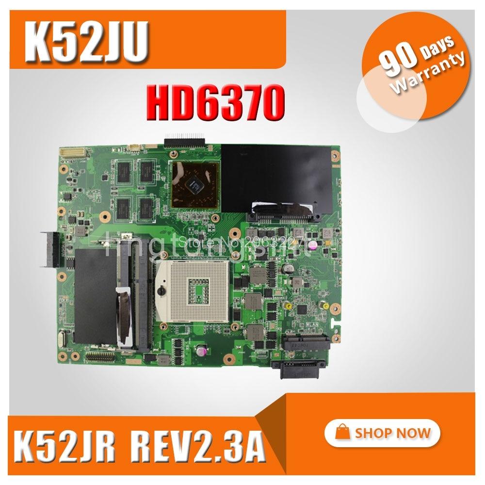 Laptop Motherboard for ASUS K52JU A52J K52J K52JR laptop 4 memory 512m HD6370 rev2.3A mainboard tested well new k52jr rev 2 3a hd6370 512m motherboard for asus k52jr a52j x52j k52ju k52jt k52jc k52j laptop motherboard 60 n1xmb1000