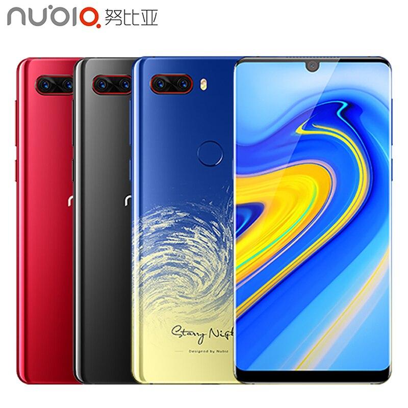 Original Nubia Z18 teléfono móvil 5,99 gota de agua pantalla 8g RAM 128g ROM Snapdragon 845 Octa Core Android 8,1 de 3450 mAh Smartphone