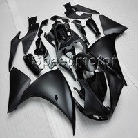 Custom+ Bolts+Tank cover+motorbike bodywork kit BLACK WHITE YZF R1 09 11 ABS motorcycle Fairing for YZFR1 2009 2010 2011