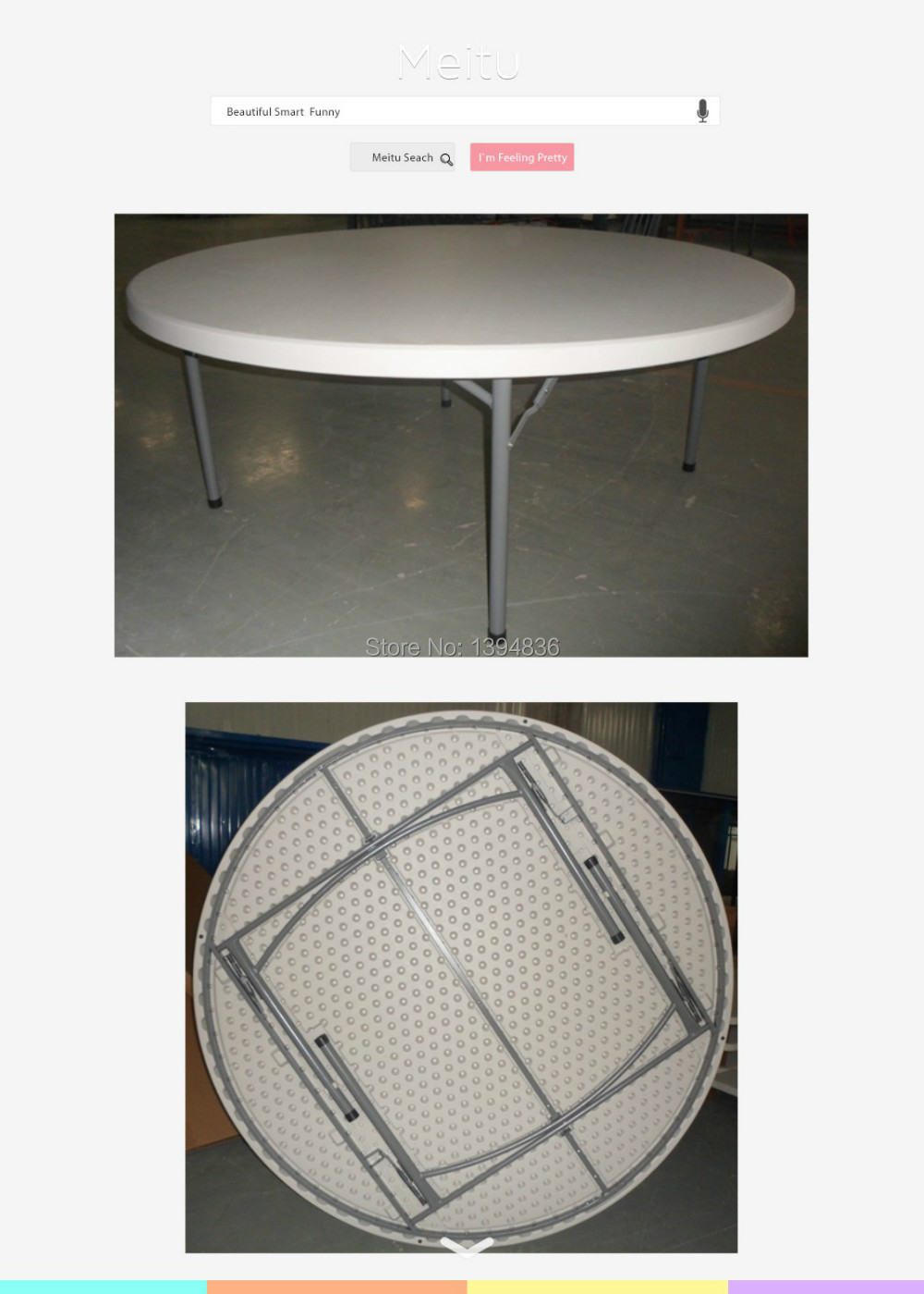 6ft Plastic Round Folding Table For 10 Person Used In Dining Tables From Furniture On Aliexpress Alibaba Group