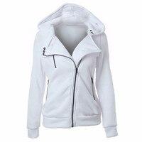 S XXL 4 Color New Autumn Winter Women Hoodies Sweatshirts Zipper V Neck Long Sleeve Warm