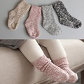 Cor da mistura de Algodão Meias Crianças Meninas Meninos Do Bebê Meias calças de Comprimento No Tornozelo Grosso Inverno Calcetines 1 Par para 0-4 anos