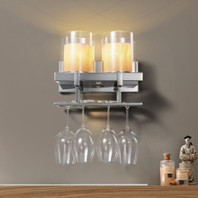 Candle Wall Lamp Modern Simple Creative Background Bedroom Hotel Led Light Art Deco Restaurant LED Glass Living Room