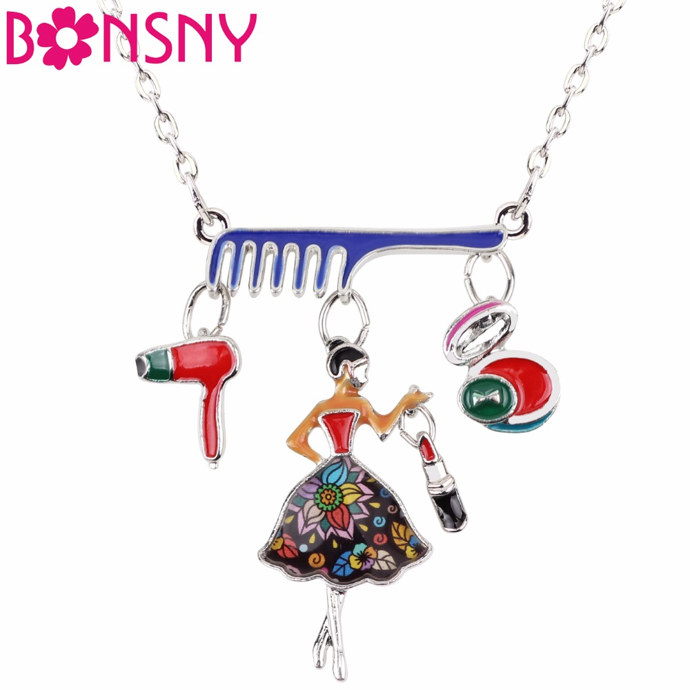 Sterling Silver Womens 1mm Box Chain 3D Red Enameled Tube Of Lip Stick Pendant Necklace