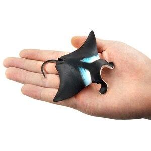 Image 5 - Symulacja Little devil fish Manta Ray guitarfish rysunek plastikowy model zwierzęcia wróżka dekoracja wnętrz (rękodzieło) decor prezent dla dzieci