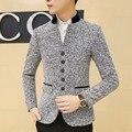 Los hombres Traje Casual Blazer Tamaño Grande Diseñador Slim Fit Suit Blazer Chaqueta de Traje de Vestir de Negocios de Moda Masculina Formal de La Vendimia F1012