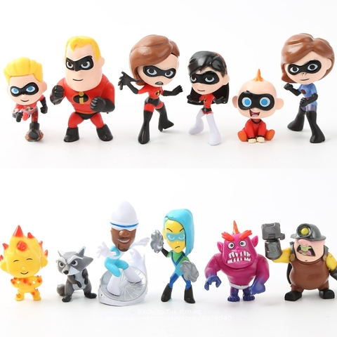 Disney The Incredibles 2 Action Figure 4-8cm 12pcs/set Posture Anime Decoration Collection Figurine Toys model for children gift Lahore