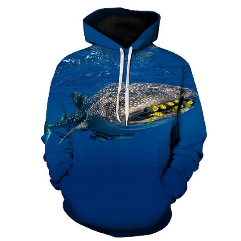 Fish Print Hoodies Men Animal Hoody 3D hoodie Streatwear Sweatshirt Funny Tracksuit Pullover Coat Hip Hop Asian size s-6xl