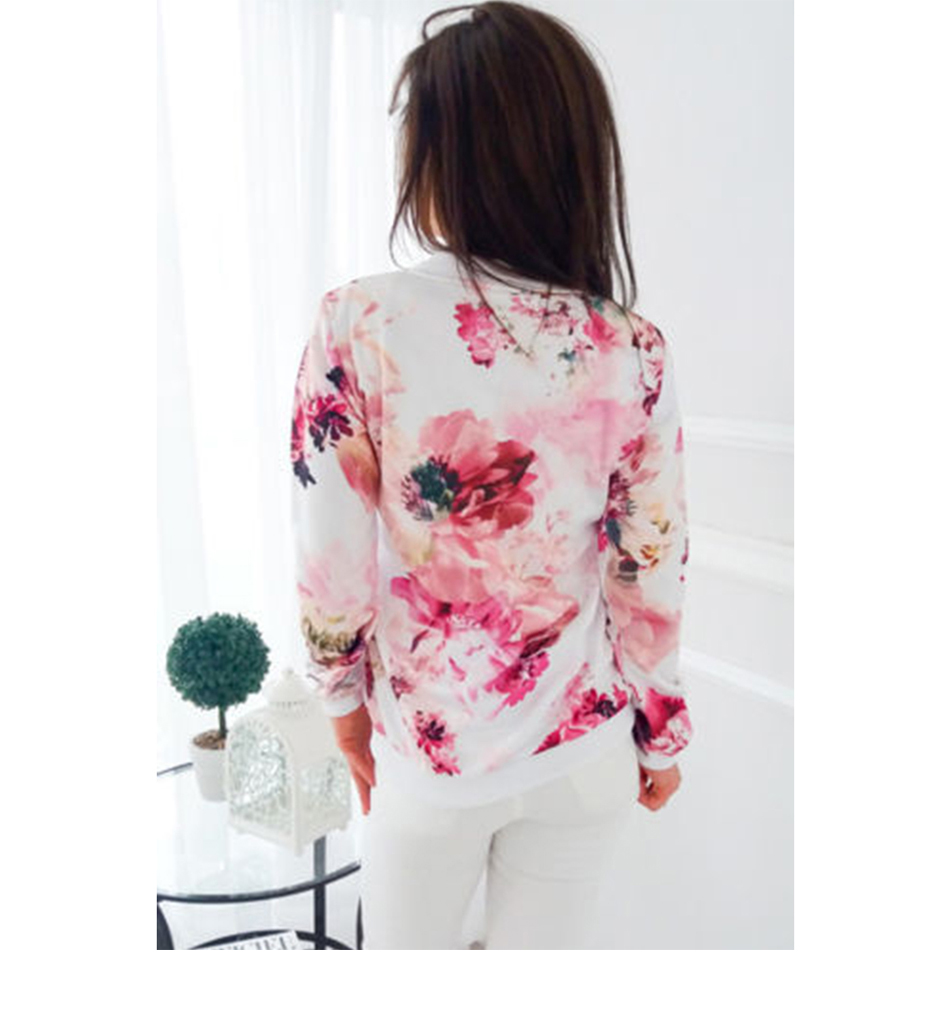 HTB18AnhTmzqK1RjSZFpq6ykSXXau Plus Size Printed Bomber Jacket Women Pockets Zipper Long Sleeve Coat Female Flower Chiffon White Jacket Woman Spring 2019