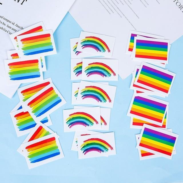 011ac9f256f33 3Pcs/Set Temporary Tattoo Rainbow Stripes Tattoo Stickers Waterproof Tattoo  Body Paint Art Gay Pride Beauty Body Party Nail Art