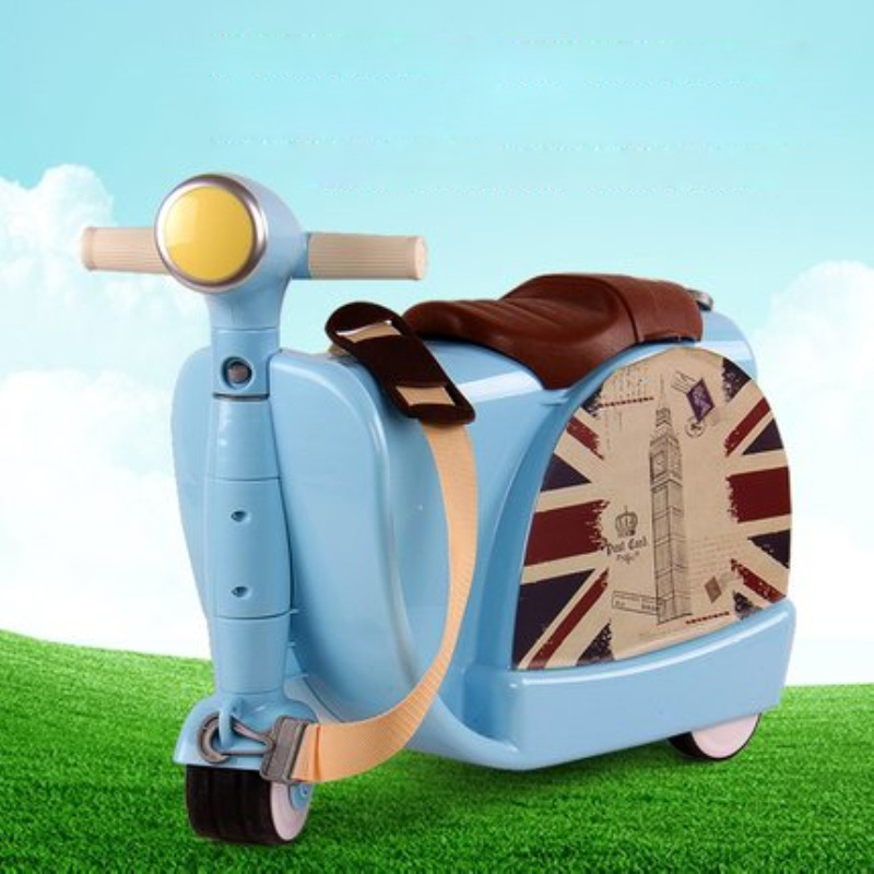 Brand Hot Children Travel locker handbag boy girl baby creative Toy box luggage suitcase Pull rod box Can sit to ride Check box