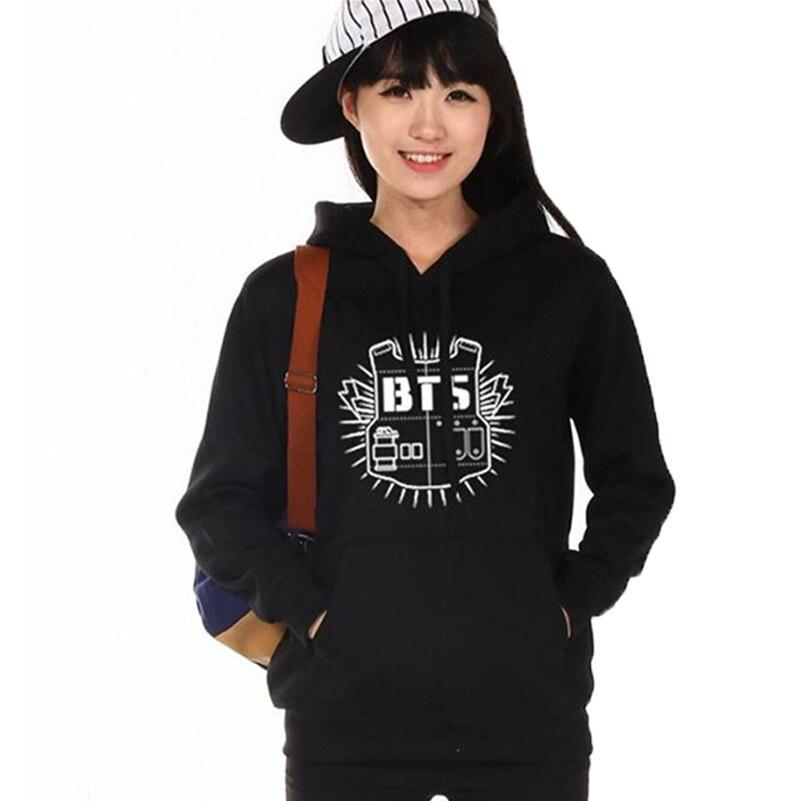 2018 BTS Kpop Print Hoodies Women Sweatshirts Cute Plus Size Hooded Tops Aesthetic Korean Female ...