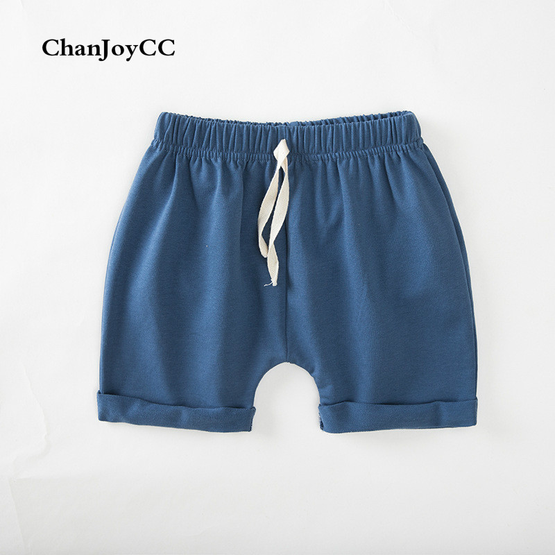 2017summer new fashion children's pant boys girls casual thin drawstring crimping Stretch short pant cotton100% baby clothes