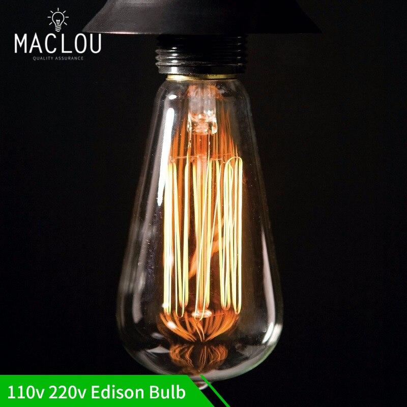 Buy B22 110v 220v 40w Candle Vintage Edison Filament: Aliexpress.com : Buy Edison Bulb Lights 110v 220v E27 40W