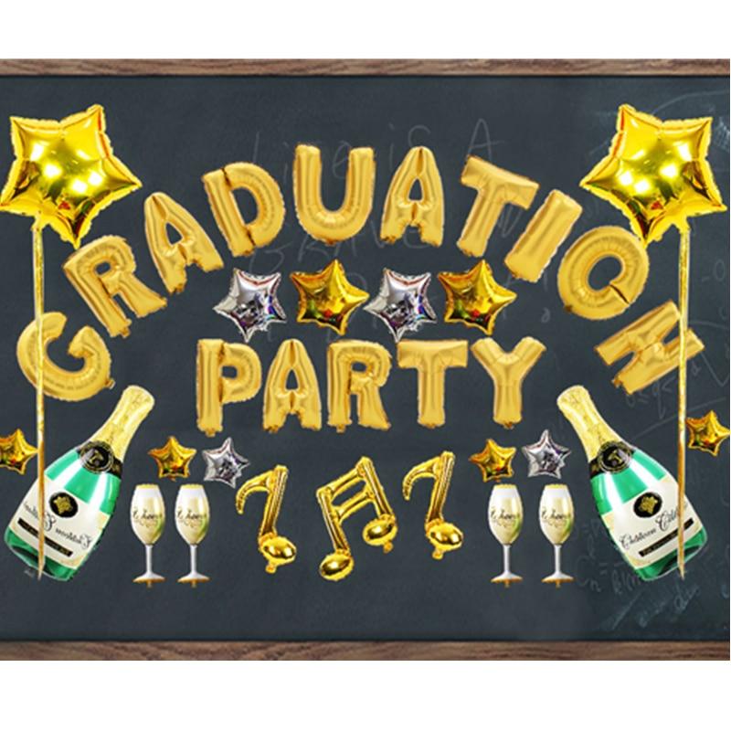 Kit de globo de papel Happy Graduate Party Supply Ceremonia de - Para fiestas y celebraciones