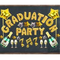 Zestaw Balon foliowy Szczęśliwy Absolwent Dostaw Stroną Dekoracje Balony Graduation Ceremony Kolega Grad Reunion Party Supplies