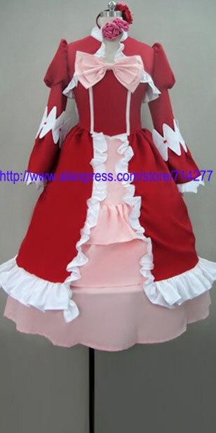 Free shipping Cheap dance party Elizabeth Cosplay Costume (Season 1) from Kuroshitsuji black butler Anime Clothing Halloween
