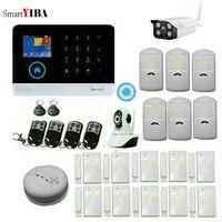 Smartyiba IOS и Android приложение управления безопасности GSM сигнализация беспроводного управления для дома охранной сигнализации зоны пожарной си
