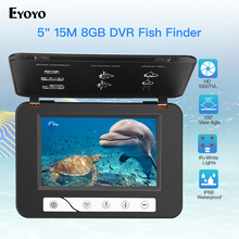 Eyoyo Fishing Camera 15M 1000TVL Fish Finder Underwater Ice Video Fishfinder IR Night Vision 5 Inch Monitor Underwater Camera