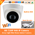 HD 720P Dome IP Camera Wifi Infrared Night Vision Motion Detect Surveillance Security CCTV CMOS Mini Webcam Freeshipping New