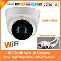 Hd 720 p cámara domo ip wifi visión nocturna por infrarrojos motion detectar la vigilancia de seguridad cctv mini cámara cmos freeshipping nuevo