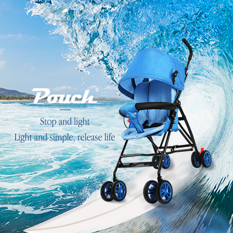 Pochette légère pliante parapluie bébé poussette cadeau panier coton pad landau portable