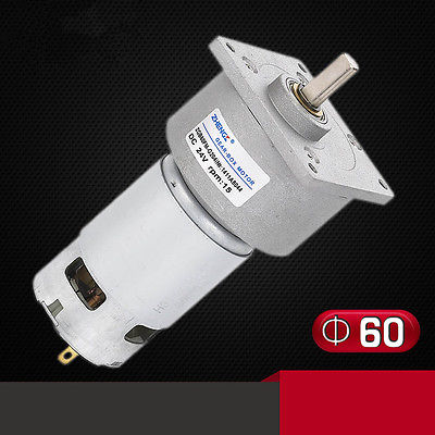 ZGB60FM-G DC 12V 24V 3RPM-500RPM 8mm Shaft Diameter Permanent Magnet Geared Motor цена